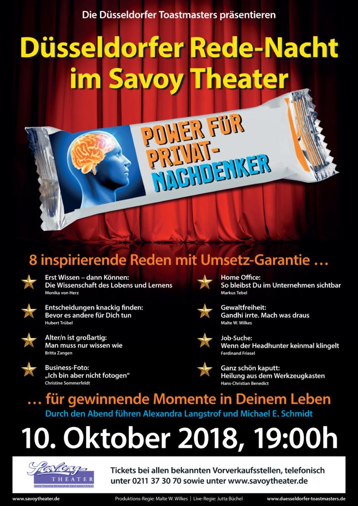 Düsseldorfer Toastmasters Rede-Nacht im Savoy - Düsseldorfer ...